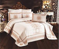 """Покрывало жаккардовое с наволочками My Bed """" Elif"""" 240х260 см"""
