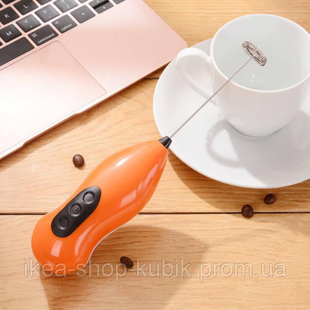 Ручний портативний міксер-пеновзбіватель капучинатор для вершків і молока Puccio 5Вт