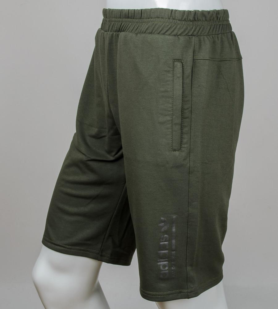 """Шорти чоловічі """"Adidas"""" (Ш002) , Т. Сірий Хакі"""