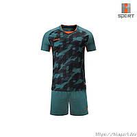 Футбольная форма Europaw 027 т.зелено-оранжевая