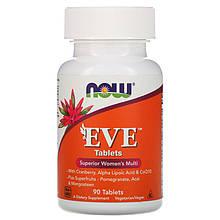 """Мультивітаміни для жінок NOW Foods """"EVE Superior women's Multi"""" покращені (90 таблеток)"""