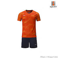 Футбольная форма Europaw 027 оранжево-т.синяя