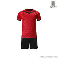 Футбольная форма Europaw 026 красно-черная