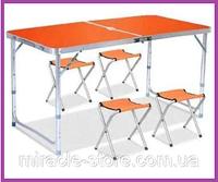 Стол для пикника с 4 стульями усиленный,Раскладной столик Rainberg
