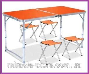 Усиленный стол для пикника с 4 стульями Rainberg, фото 2