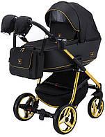 Дитяча універсальна коляска 2 в 1 Adamex Barcelona Polar (Gold) BR442