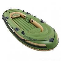 Трехместная надувная лодка BestWay Voyager 500, 348 см х 141 см. с веслами