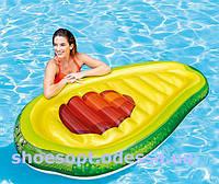 Надувной плотик матрас Авокадо 168х104 см