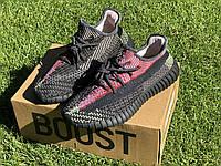 Кроссовки мужские Adidas Yeezy Boost 350 v2 черные, Красовки Адидас изи буст 350