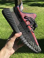 Кроссовки мужские Adidas Yeezy Boost 350 v2 черные, Красовки Адидас изи буст 350 41