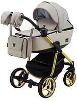 Дитяча універсальна коляска 2 в 1 Adamex Barcelona Polar (Gold) BR451
