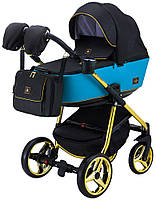 Детская универсальная коляска 2 в 1 Adamex Barcelona Polar (Gold) BR608, фото 1