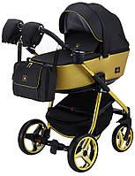 Детская универсальная коляска 2 в 1 Adamex Barcelona Polar (Gold) BR619, фото 1