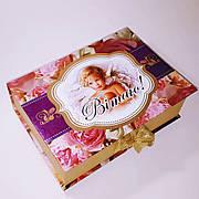 """Упаковка праздничная новогодняя из картона """"Вітаю"""", на вес до 1кг, от 1 штуки"""