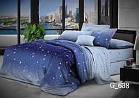 Качественное постельное белье из бязи со звездочками