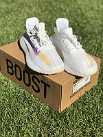 Кроссовки мужские Adidas Yeezy Boost 350 v2 Белые , Красовки Адидас изи буст 350 41
