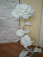 Торшеры с изолона белая роза  | торшеры лампы  роза белая   | торшеры розы белые