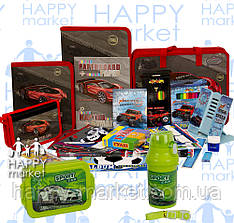 Набір шкільний подарунок першокласнику Kidis 19 предмета Машина 7-7