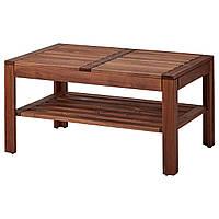 IKEA ЭПЛАРО Журнальный стол, садовый, коричневая морилка, 90x55 см