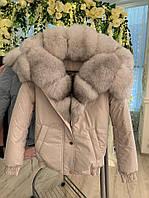 Куртка парка с мехом. Бомбер с мехом