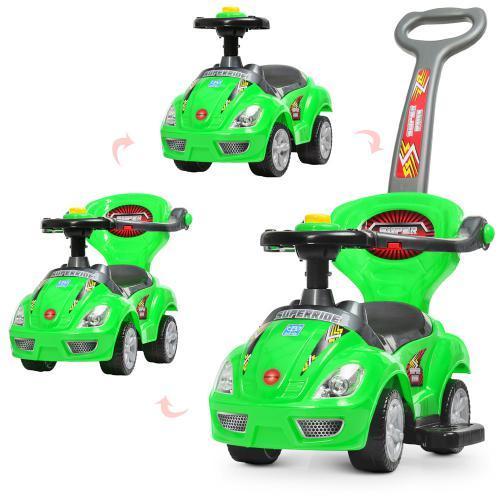 Детская машинка каталка толокар Bambi M 4205-5 зеленый