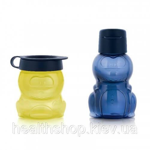 Набор детский: эко-бутылочка + стаканчик «Динозаврик» Tupperware (Оригинал)