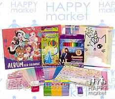 Набір шкільний подарунок першокласнику 10 предметів для дівчинки 8-1