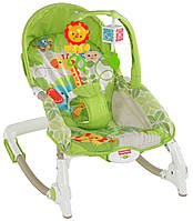 Кресло качалка Львёнок музыкальный Fisher-Price Newborn-to-Toddler Portable Rocker