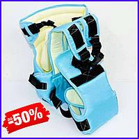 Рюкзак кенгуру №12 для новорожденных, рюкзак переноска для детей слинг, сумка для малыша кенгуру голубой