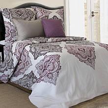 Комплект постельного белья от украинского производителя поплин Дамаск Семейный