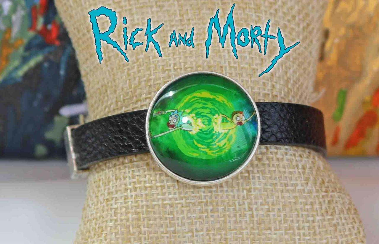 Браслет Рик и Морти в портале / Rick and Morty