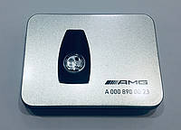 Крышка смарт ключа Mercedes Affalterbach чёрно-белая
