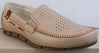Мокасины кожаные мужские большого размера от производителя модель ББ016