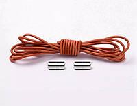 Шнурки резиновые круглые 1 м , цвет рыжий