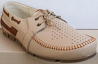 Мокасины кожаные мужские большого размера от производителя модель ББ018