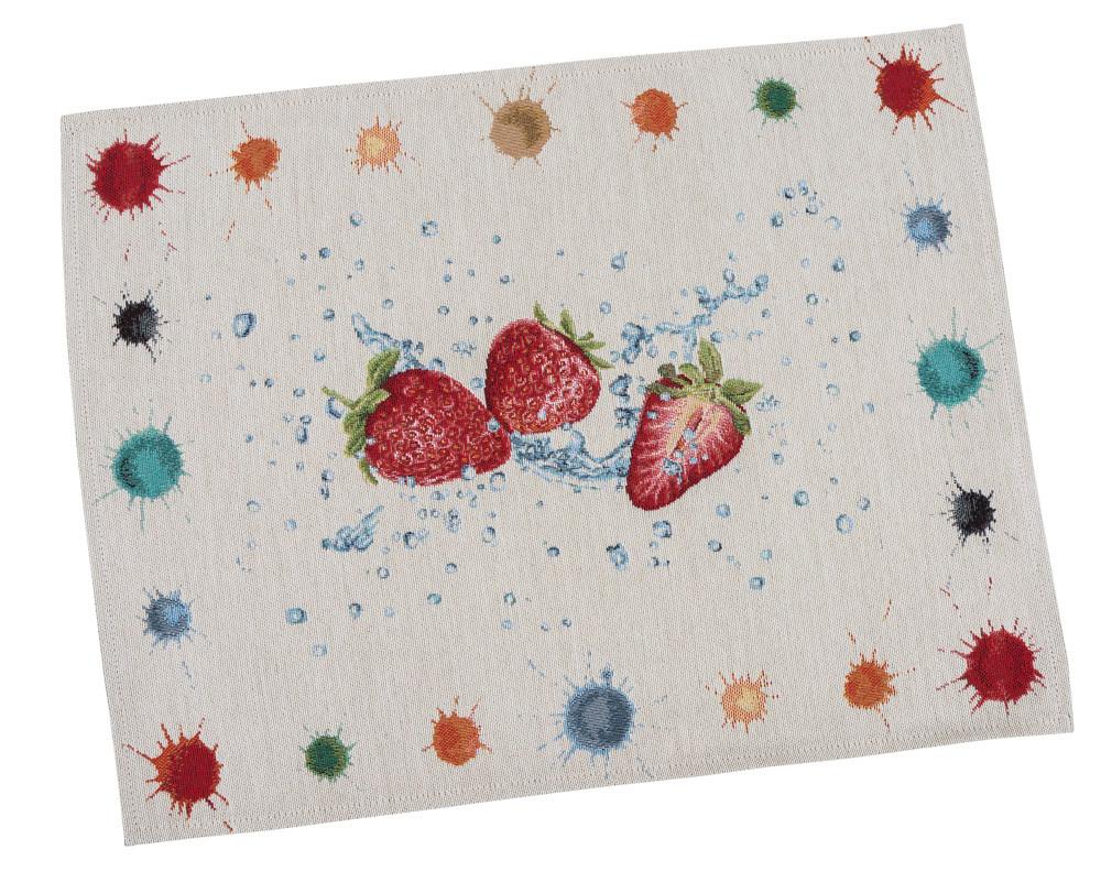 Салфетка-подкладка для кухни LiMaSo Клубника 37*49 см гобеленовая арт.RUNNER850-49.37х49