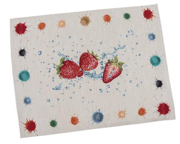 Салфетка-подкладка для кухни LiMaSo Клубника 37*49 см гобеленовая арт.RUNNER850-49.37х49, фото 2