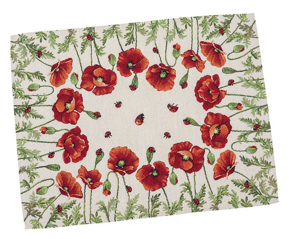 Салфетка-подкладка для кухни LiMaSo Маки 37*49 см гобеленовая арт.RUNNER759-49.37х49, фото 2