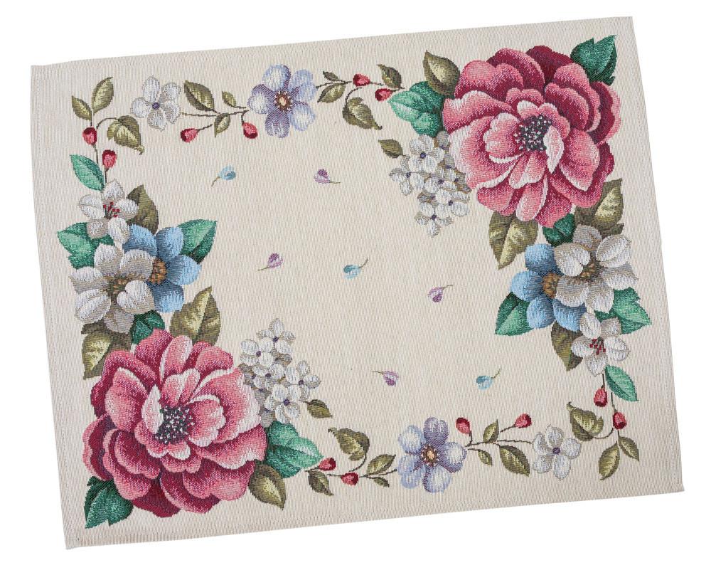 Салфетка-подкладка для кухни LiMaSo Цветы 37*49 см гобеленовая арт.RUNNER863-49.37х49