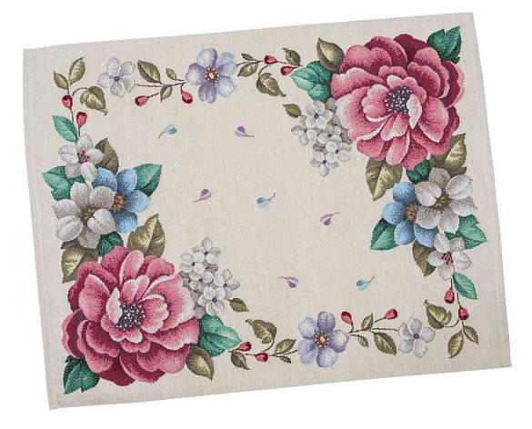 Серветка-підкладка для кухні LiMaSo Квіти 37*49 см гобеленова арт.RUNNER863-49.37х49, фото 2