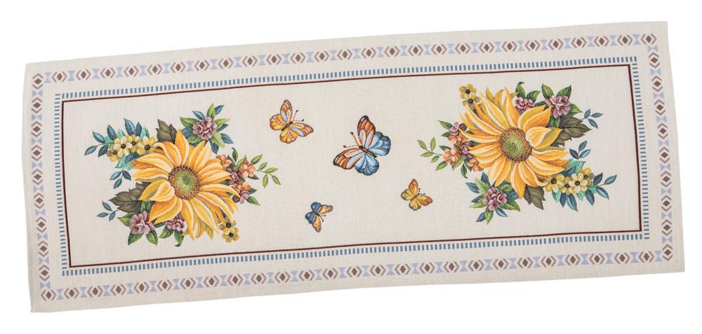 Скатерть-дорожка LiMaSo Подсолнухи 37*100 см гобеленовая арт.LIMA013-37.37x100