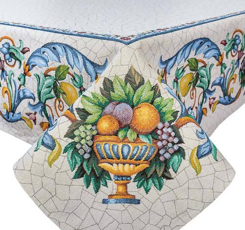Скатертина LiMaSo Фрукти у вазі 137*137 см гобеленова арт.RUNNER LIMA021-137.137х137, фото 2