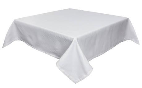 Скатертина LiMaSo 134*180 см поліестер біла в смужку арт.CANDY 014 -180.134х180, фото 2