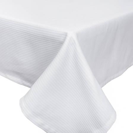 Скатертина LiMaSo 134*240 см поліестер біла в смужку арт.CANDY 014 -240.134х240, фото 2