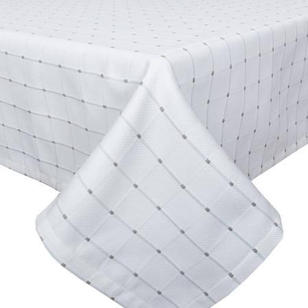 Скатертина LiMaSo 134*134 см бавовняна біла в клітку арт.CANDY 012 -134.134х134, фото 2