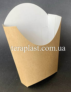 "Упаковка для картофеля фри ""Миди"" 120х143 (Крафт), фото 2"