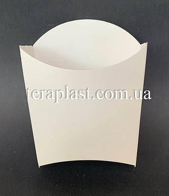 "Упаковка для картофеля фри ""Мини"" 120х125 (Белая), фото 2"
