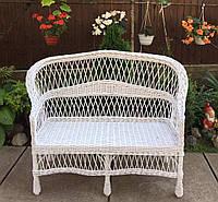 Диван плетеный белый| диван из лозы белый | диван плетеный из лозы