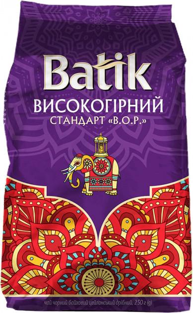 Batik чай черный цейлонский листовой Высокогорный 250 грамм