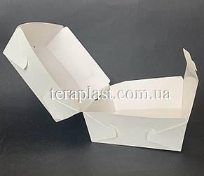 """Коробка для бургеров, сендвичей """"Макси"""" 120х120х95 мм (Белая), фото 2"""
